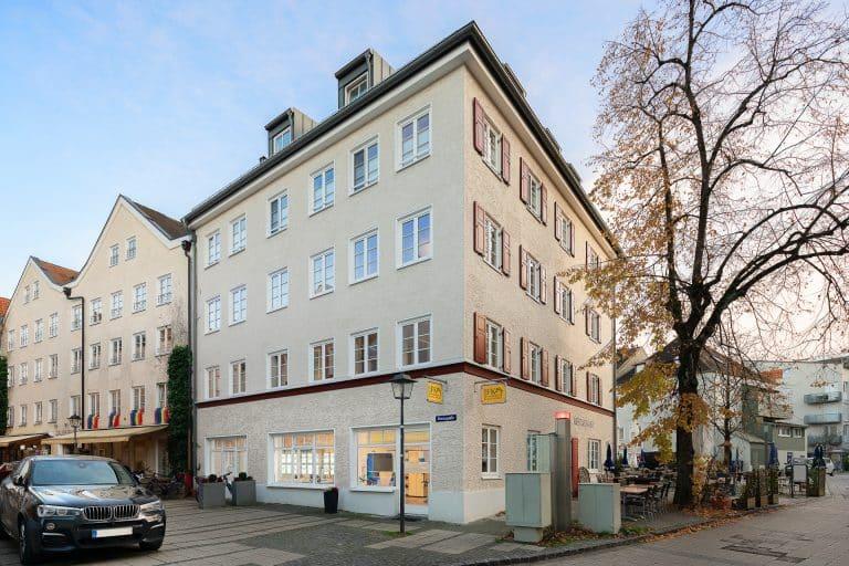 Büro Kreuzgasse 7 in Weilheim von Außen.  Kontakt persönlich.